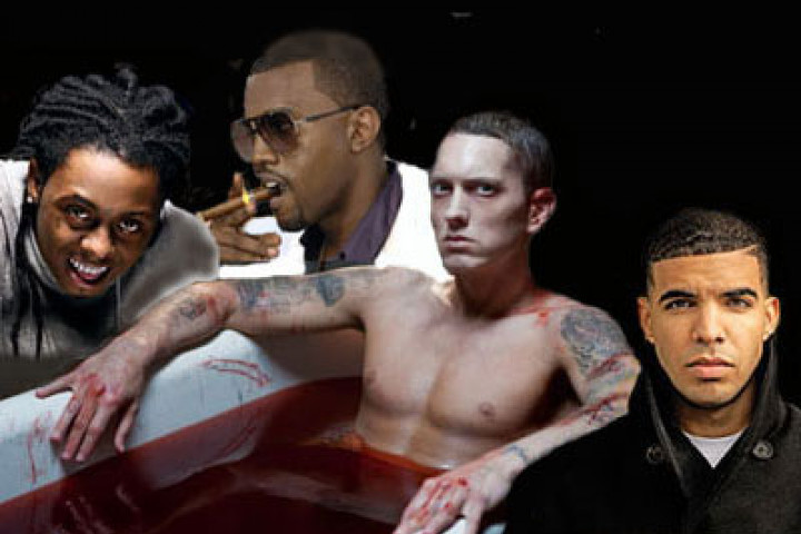 Eminem, Lil Wayne, Kanye West & Drake