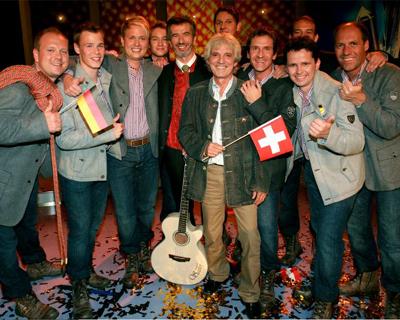 Die Bergkameraden, Die Bergkameraden & Oswald Sattler erringen für Deutschland einen guten zweiten Platz beim Grand Prix der Volksmusik