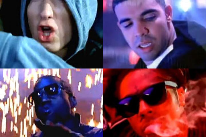 Drake, Kanye, Eminem & Lil Wayne