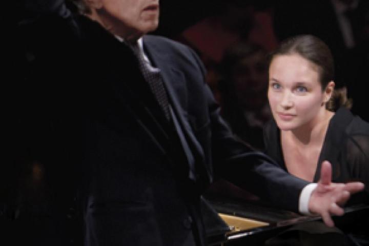 Claudio Abbado und Hélène Grimaud © Deutsche Grammophon