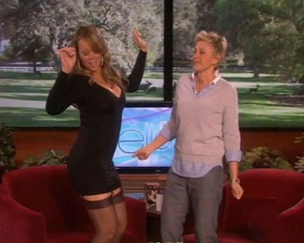 Mariah Carey, Mariah Carey in Strapsen in der Ellen DeGeneres Show
