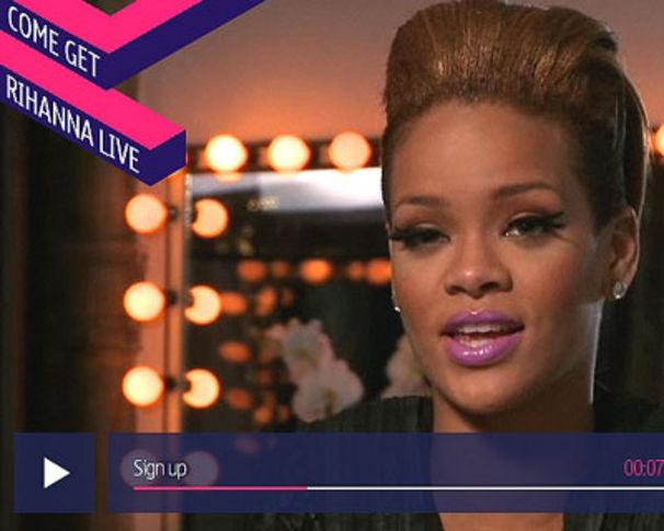 Rihanna, Rihanna's London-Show live im Netz!
