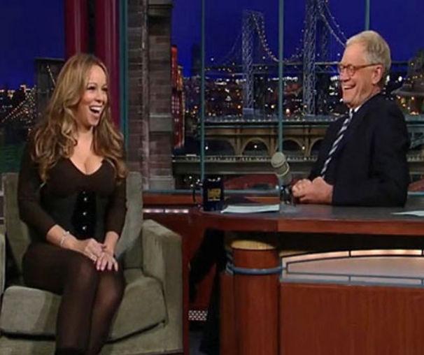 Mariah Carey, MC zu Gast bei David Letterman