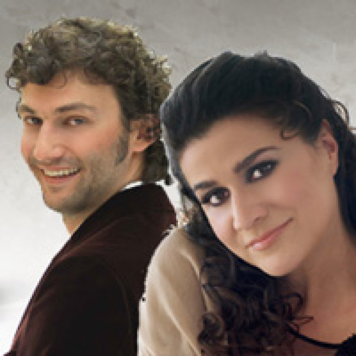 Jonas Kaufmann und Cecilia Bartolie Portrati Montage © Dietmar Scholz & Uli Weber