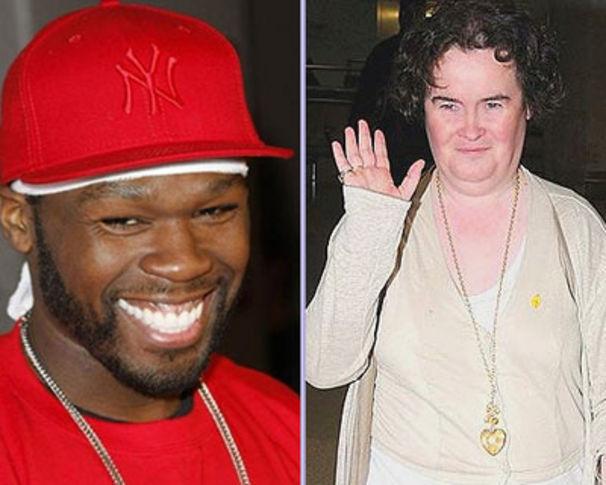 50 Cent, 50 Cent steht auf Susan Boyle