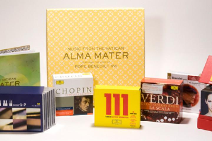 CD Boxen, Alma Mater, Chopin, DG 111, Brendel, Verdi, Welt Edition © Universal Music
