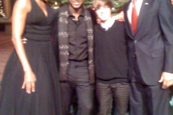 Justin Bieber und Obama