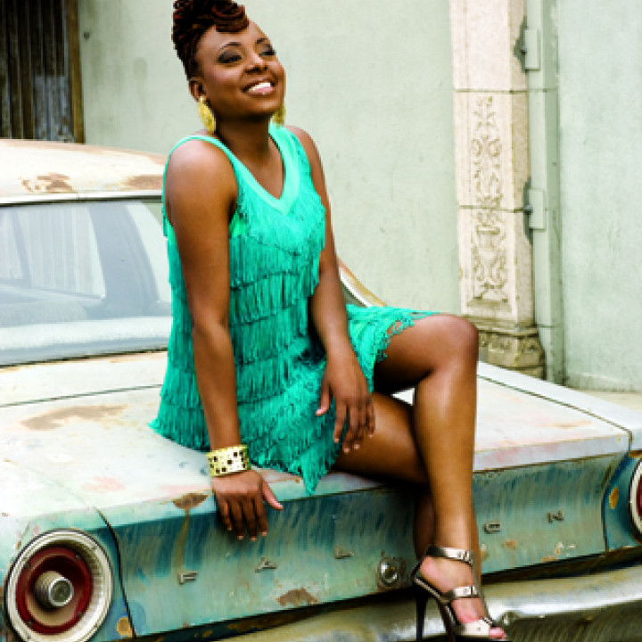Ledisi Turn Me Loose Verve Car Blue Dress