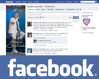 Howard Carpendale, Jetzt Fan werden! Besuchen Sie die Facebook-Seite von Howard Carpendale...