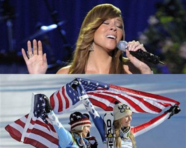 Mariah Carey, Mariah Carey weckt Olympia-Kampfgeist