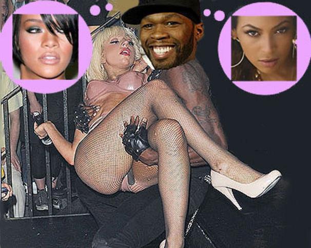 50 Cent, 50 träumt von Rihanna / GaGa & Beyonce Harem