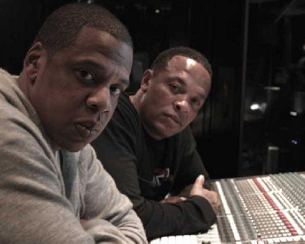 Jay-Z, Dr. Dre und Jay-Z im Studio