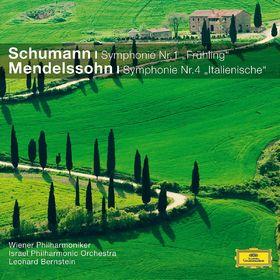 Leonard Bernstein, Schumann Symphonie Nr.1 Frühling, Mendelssohn Symphonie Nr.4 Italienische, 00028948035854