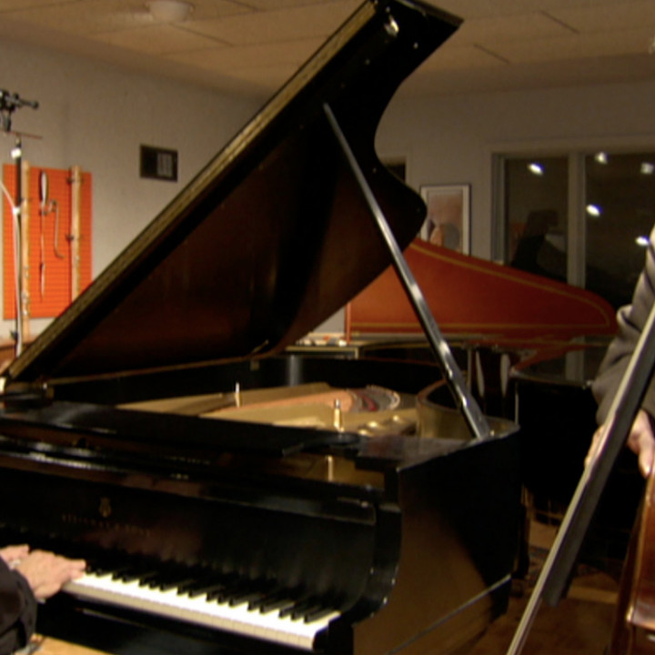 "Keith Jarrett & Charlie Haden ""Jasmine"" Sessions ©Reto Caduff / ECM Records"