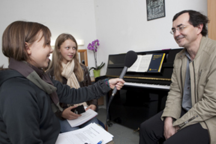 Beethovenfest Schülermanager Interview mit Pierre Laurent Aimard