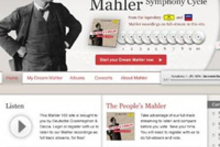 Website zum 150. Geburtstag von Gustav Mahler