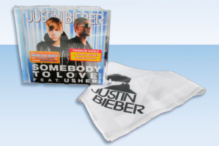 Justin Bieber Single + Taschentuch