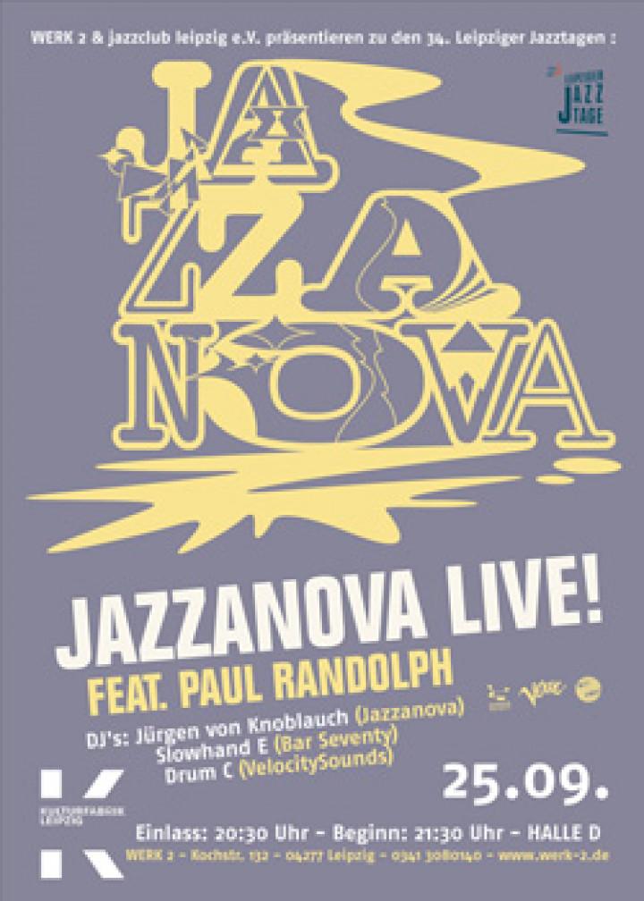 Jazzanova Flyer © by Werk 2 / Jazzclub Leipzig