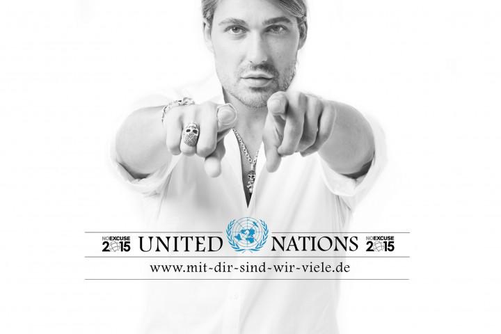 David Garrett mit UN Logo