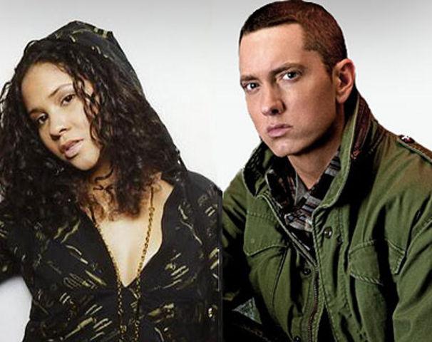 Eminem, Shade45's Angela Yee bietet Eminem die Stirn
