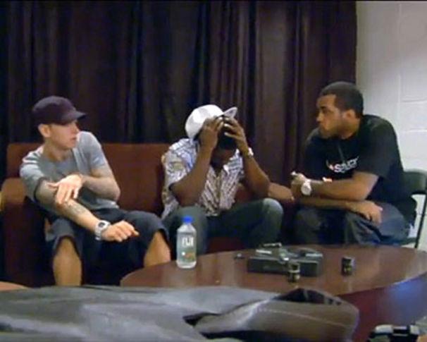 Eminem, Eminem & 50 Cent spielen Lloyd Banks üblen Streich