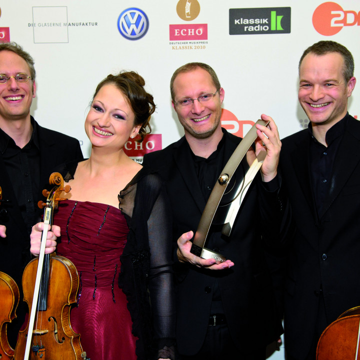 Das Fauré Quartett beim ECHO Klassik 2010 ©Stefan Höderath