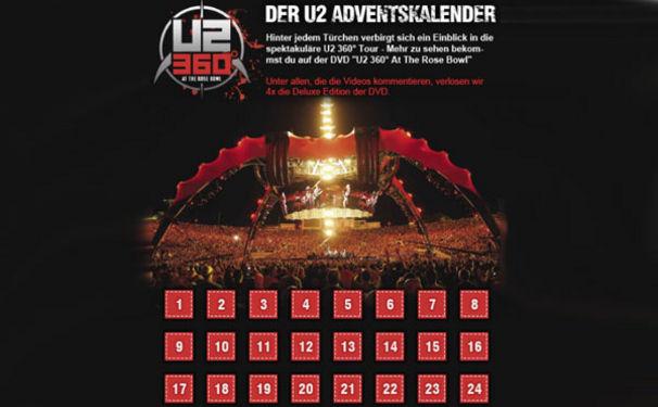 U2, XMAS Special: Der U2-Adventskalender auf Facebook!