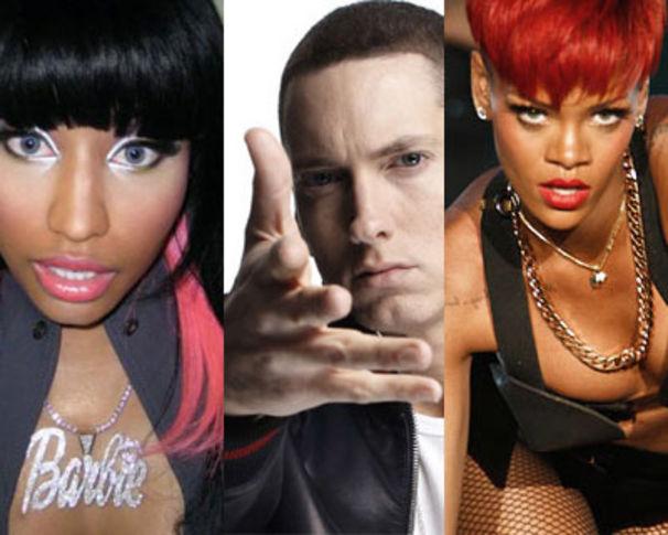 Eminem, Eminem, Rihanna & Nicki Minaj toppen Social 50 Charts