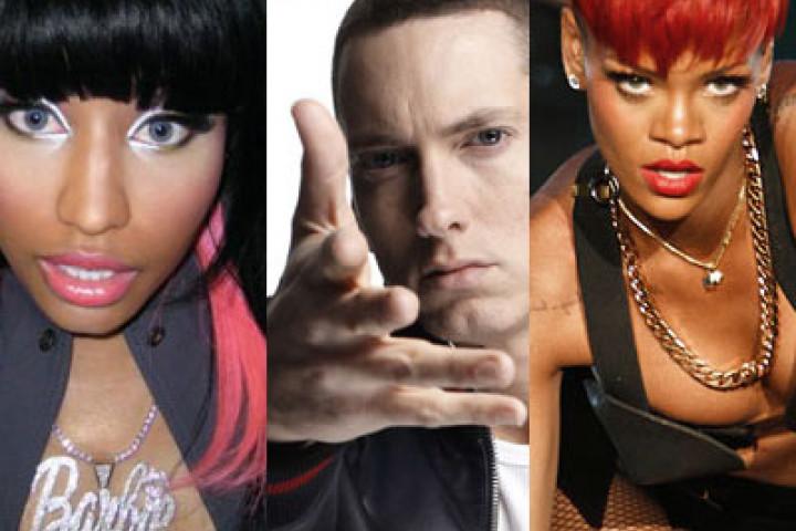 Eminem, Rihanna & Nicki Minaj