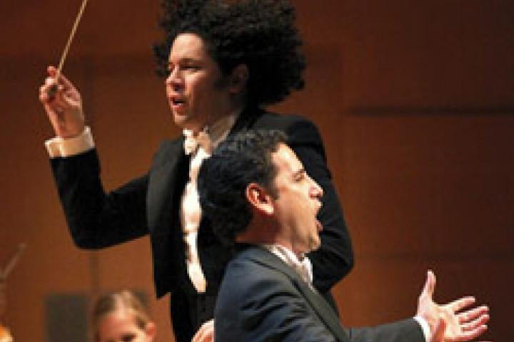 Gustavo Dudamel und Juan Diego Flórez © Mathew Imaging / Los Angeles Philharmonic