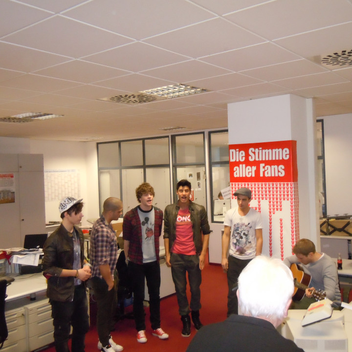The Wanted bei der Bild Februar 2011