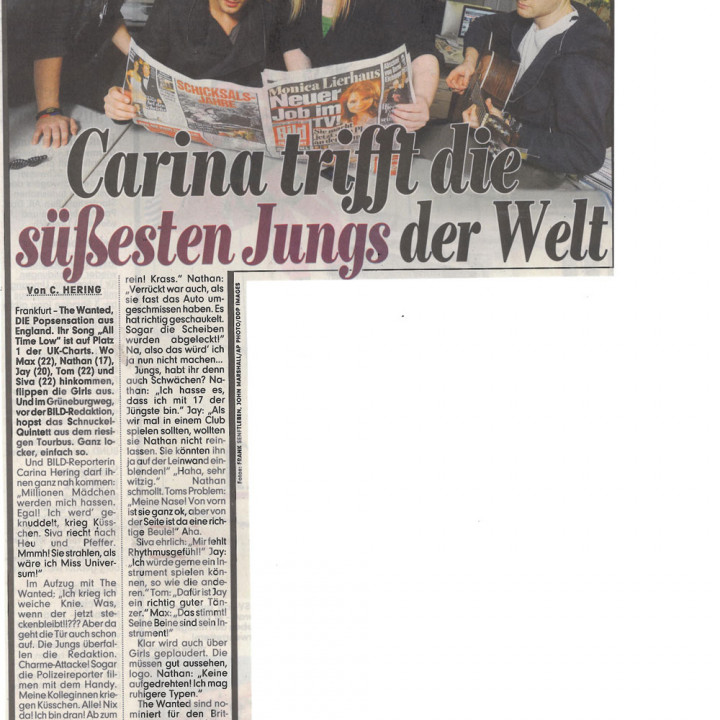 The Wanted Promotour Februar 2011_Presse 2