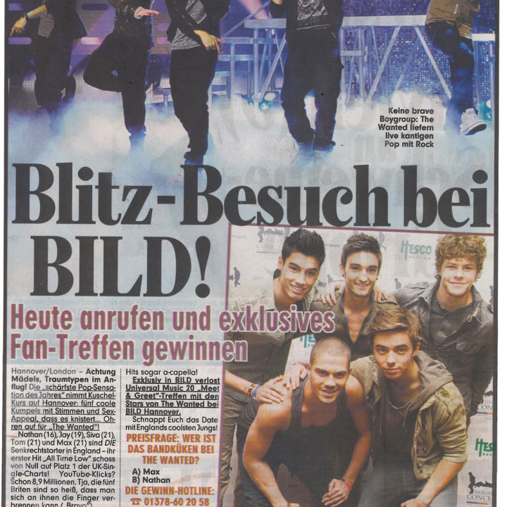 The Wanted Promotour Februar 2011_Presse 5