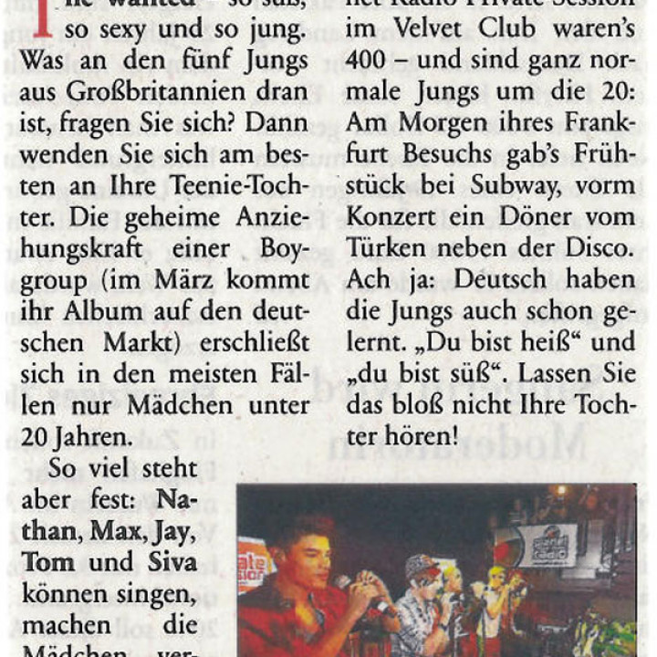 The Wanted Promotour Februar 2011_Presse 11