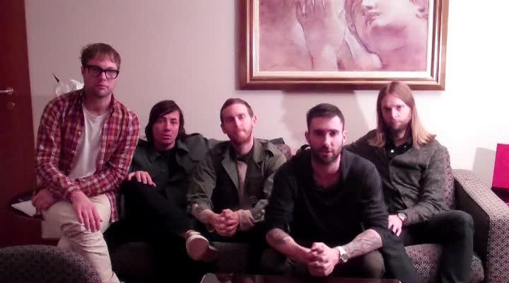 Maroon5 Videobotschaft