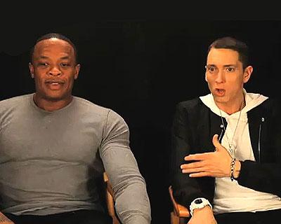Dr. Dre, Eminem tritt Dr. Dre in den Hintern