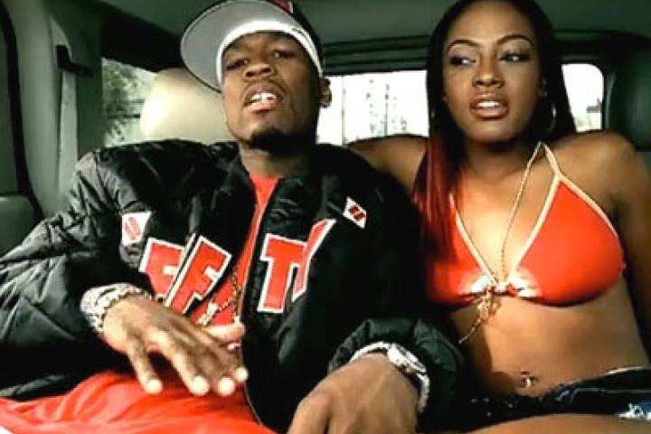 50 Cent und Videomodel