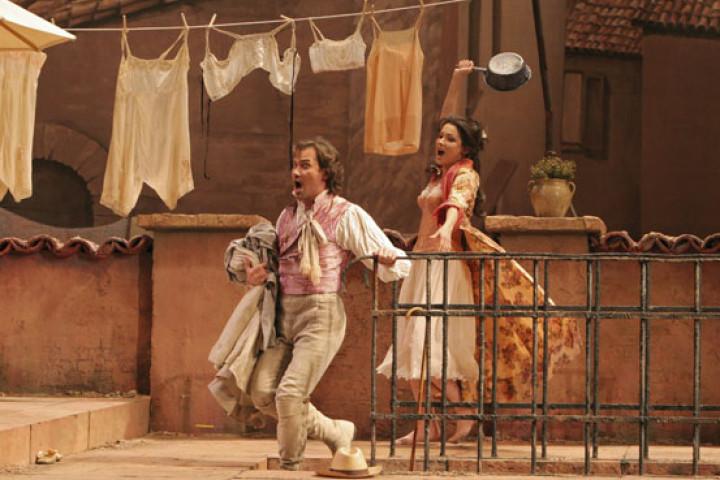 Anna Netrebko und Mariusz Kwiecien in Don Pasquale © Marty Sohl / Metropolitan Opera