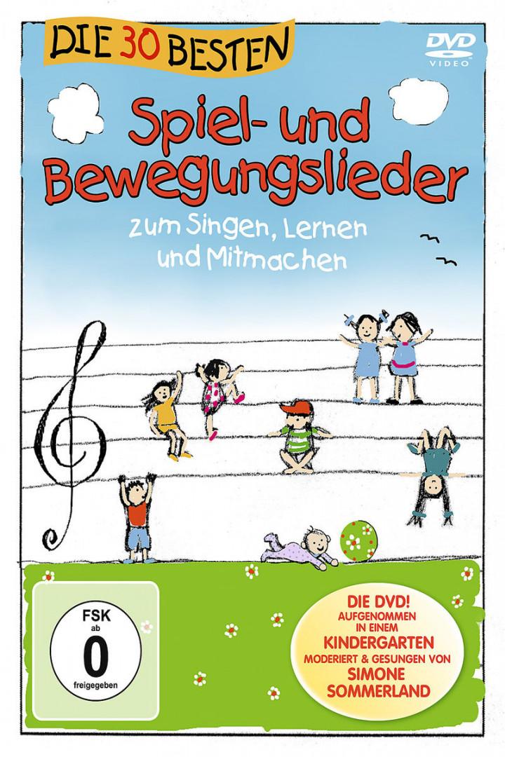 Die 30 besten Spiel- und Bewegungslieder - Die DVD: Simone Sommerland,Karsten Glück & Die Kita-