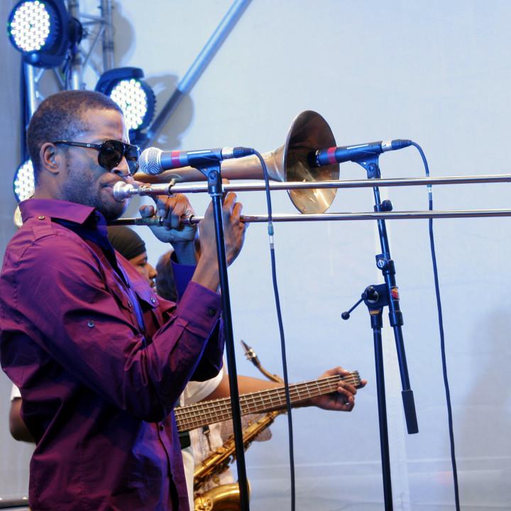Trombone Shorty Live at Verve Club in the garden 2011 01 c Max Schröder