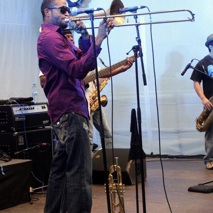 Trombone Shorty Live at Verve Club in the garden 2011 02 c Max Schröder