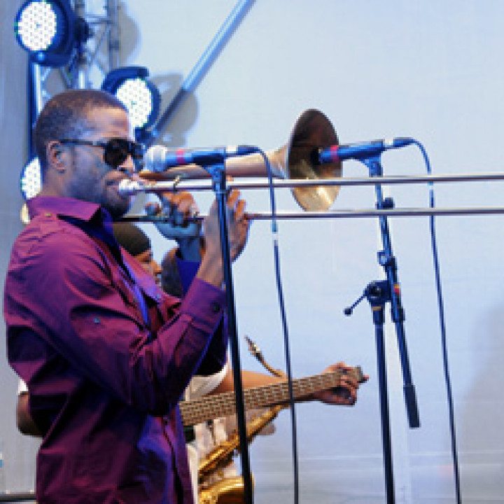 Trombone Shorty live bei Verve Club in the garden 2011 in Berlin