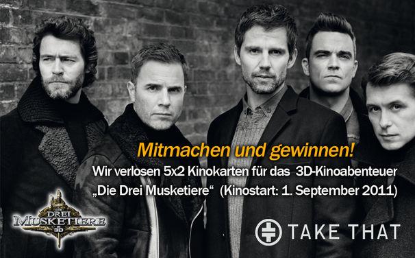 Take That, Gewinne Kinokarten für Die Drei Musketiere