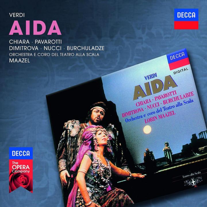 Aida: Pavarotti/Chiara/Dimitrova/Nucci/OTSM/Maazel/+