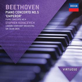 Virtuoso, Beethoven: Piano Concerto No.5 - Emperor;  Piano Concerto No.4, 00028947833505