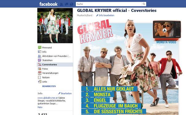 Global Kryner, Das Album Coverstories auf Facebook anhören!