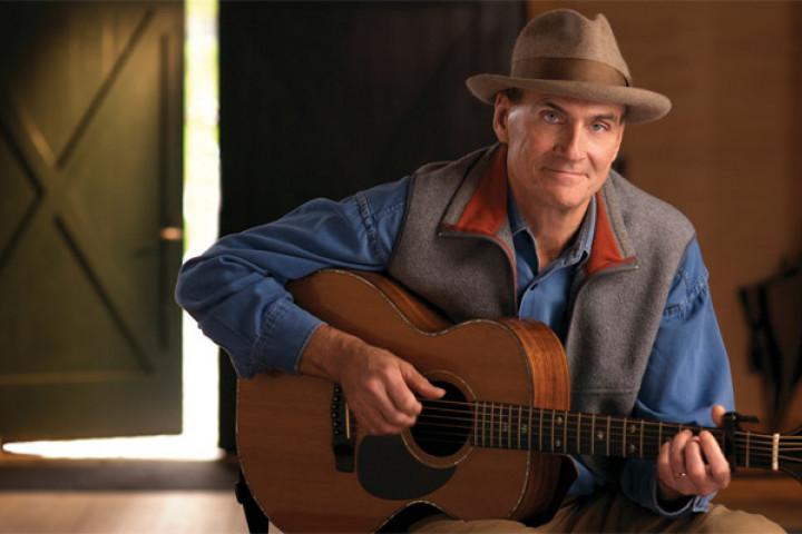 James Taylor Portrait mit Gitarre