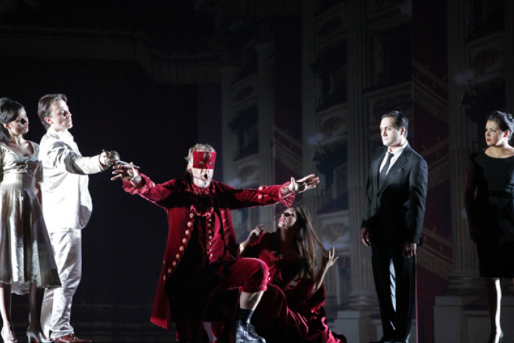 Anna Prohaska, Stefan Kocan, Bryn Terfel, Barbara Frittoli, Giuseppe Filianoti and Anna Netrebko in Don Giovanni (Scala)