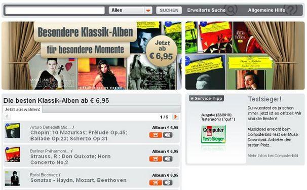 Klassik-Special bei musicload