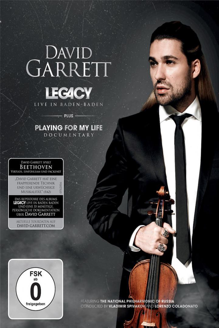 Legacy-Live In Baden Baden (Ltd. Deluxe Edt.): Garrett, David/Marin,Ion/RPO